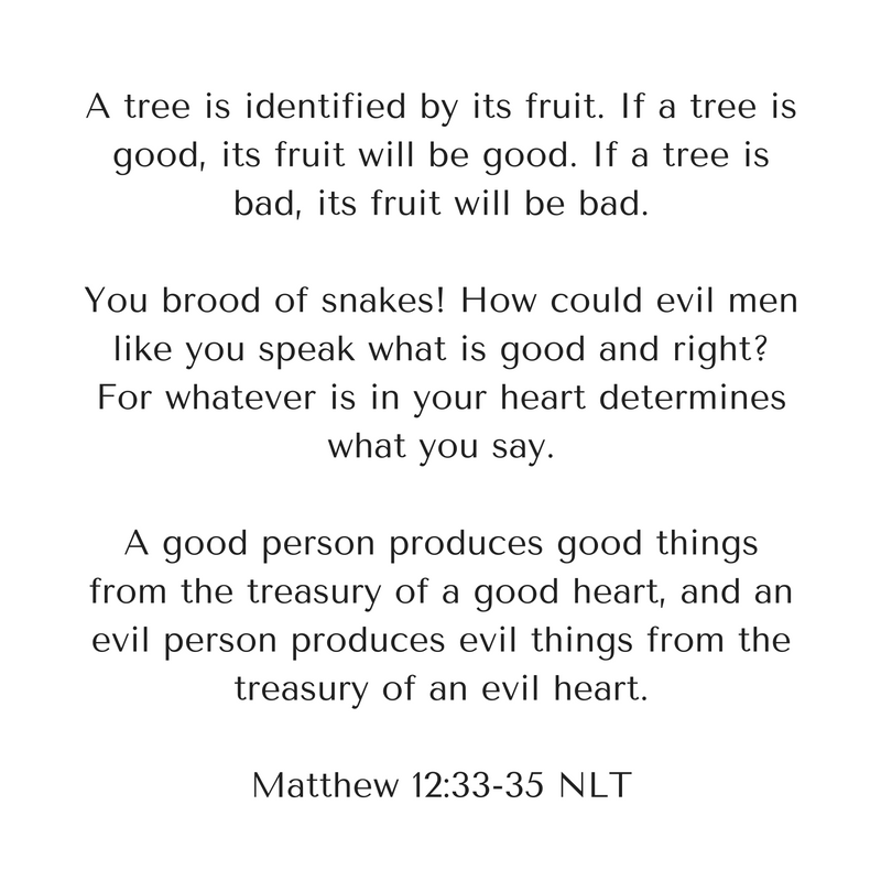 33-a-tree-is-identified-by-its-fruit-if-a-tree-is-good-its-fruit-will-be-good-if-a-tree-is-bad-its-fruit-will-be-bad-34
